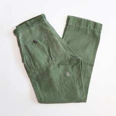 画像1: 50's-60's US MARINE CORPS P-58 COTTON SATEEN UTILITY PANTS (1)