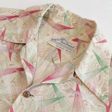 画像4: 〜50's Beau Brummel COTTON ALL OVER PATTERN BOX SHIRT (4)