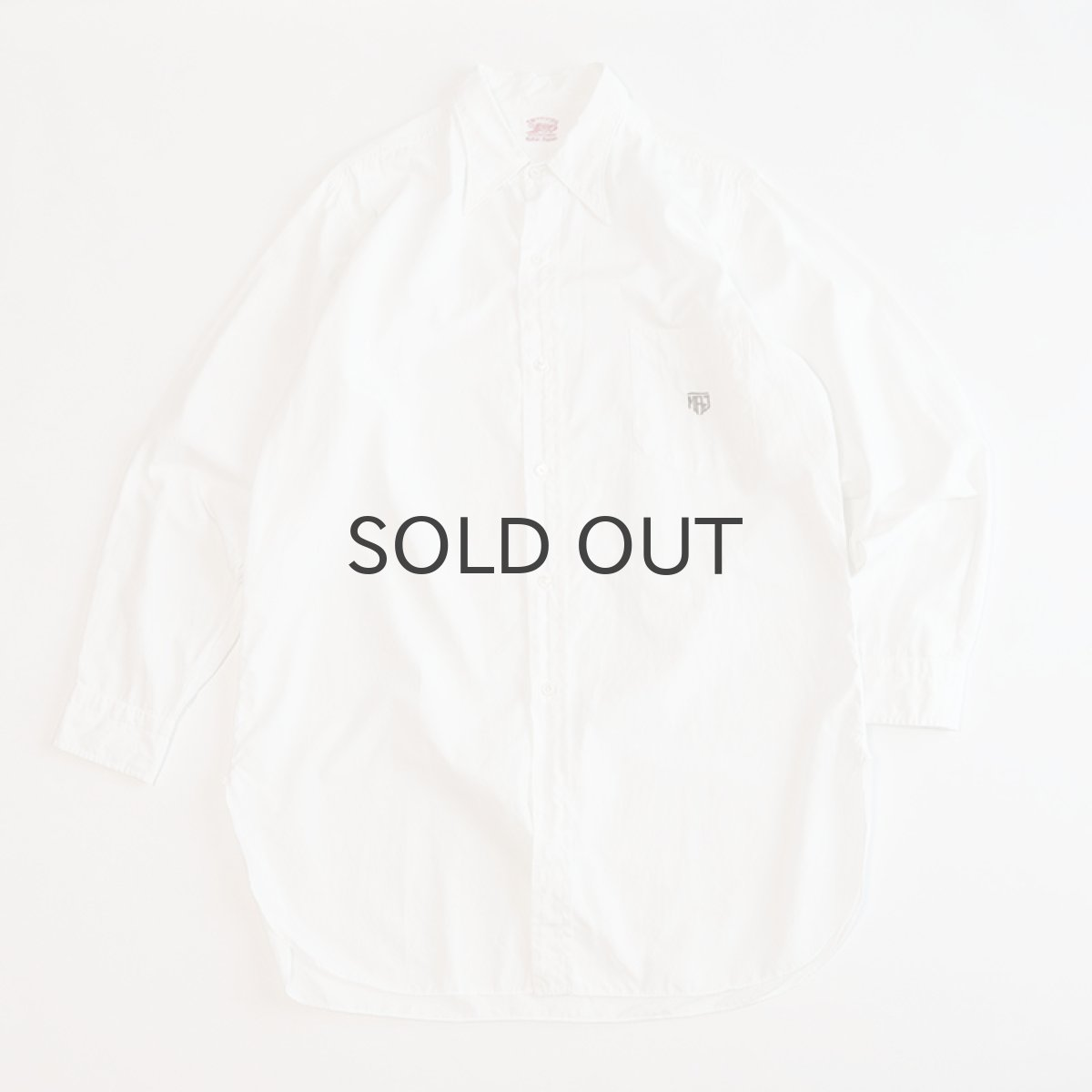 画像1: 〜50's TSURUYA COTTON BROAD DRESS SHIRT (1)