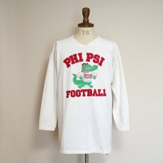 "画像9: 80's RUSSELL W-PRINT CROPPED SLEEVE FOOTBALL TEE ""PHI PSI FOOTBALL"" (9)"