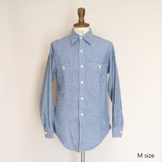 画像10: 〜70's KiFFE COTTON CHAMBRAY WORK SHIRT (10)