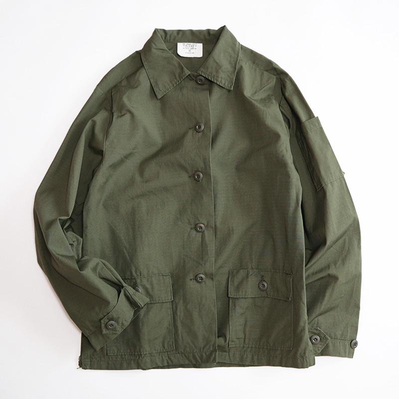 """画像1: 70's US ARMY RIP-STOP COTTON POPLIN WOMEN'S UTILITY SHIRT JACKET """"DEADSTOCK"""" 【Size : 12】 (1)"""