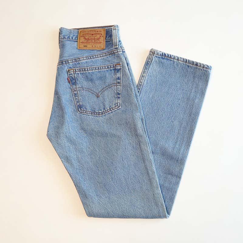 """画像1: LEVI'S 501 DENIM PANTS """"made in USA"""" 【W28 程度】 (1)"""