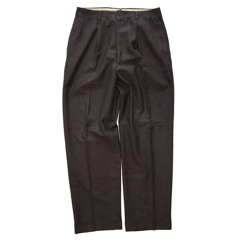 画像1: 50's UNKNOWN BRAND WOOL TUCK SLACKS (1)
