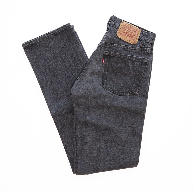 "画像1: LEVI'S 501 BLACK DENIM PANTS ""made in USA"" (1)"