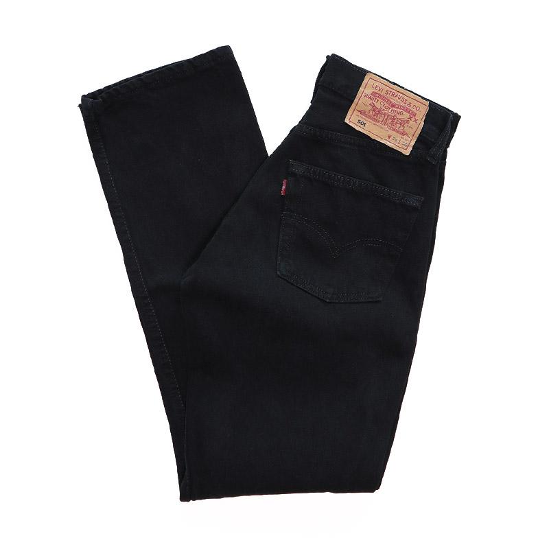 "画像1: LEVI'S 501 BLACK DENIM PANTS ""made in U.K."" (1)"