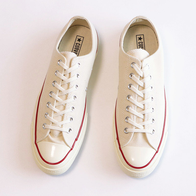 "画像1: 【NEW】CONVERSE ALL STAR ""Chuck Taylor"" Low CANVAS SHOES 【NATURAL / Size : 9, 9 1/2, 10】 (1)"