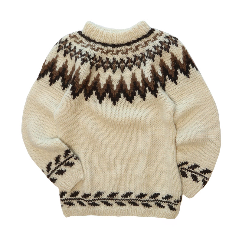 old unknown brand wool hand knit icelandic sweater ladies レディース