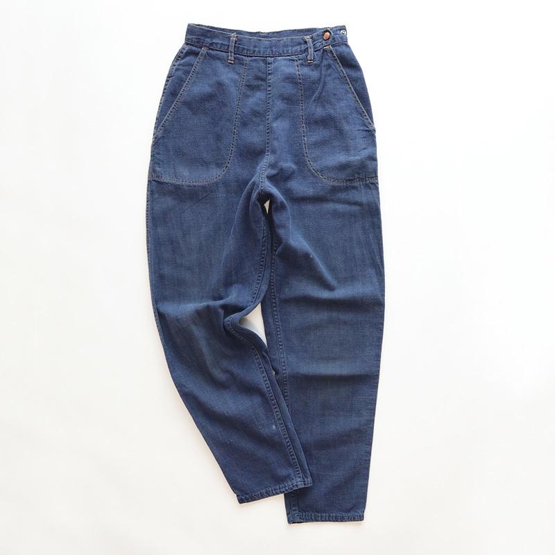 画像1: 60's Sears VAT-DYED DENIM RANCH PANTS (1)