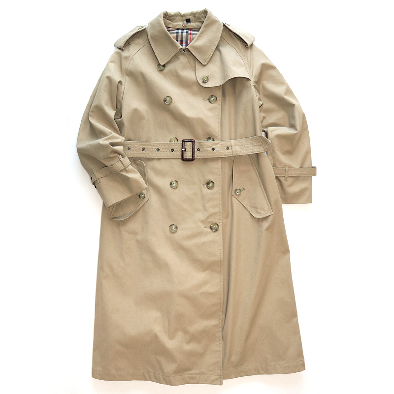 画像1: OLD UNKNOWN BRAND TRENCH COAT (1)