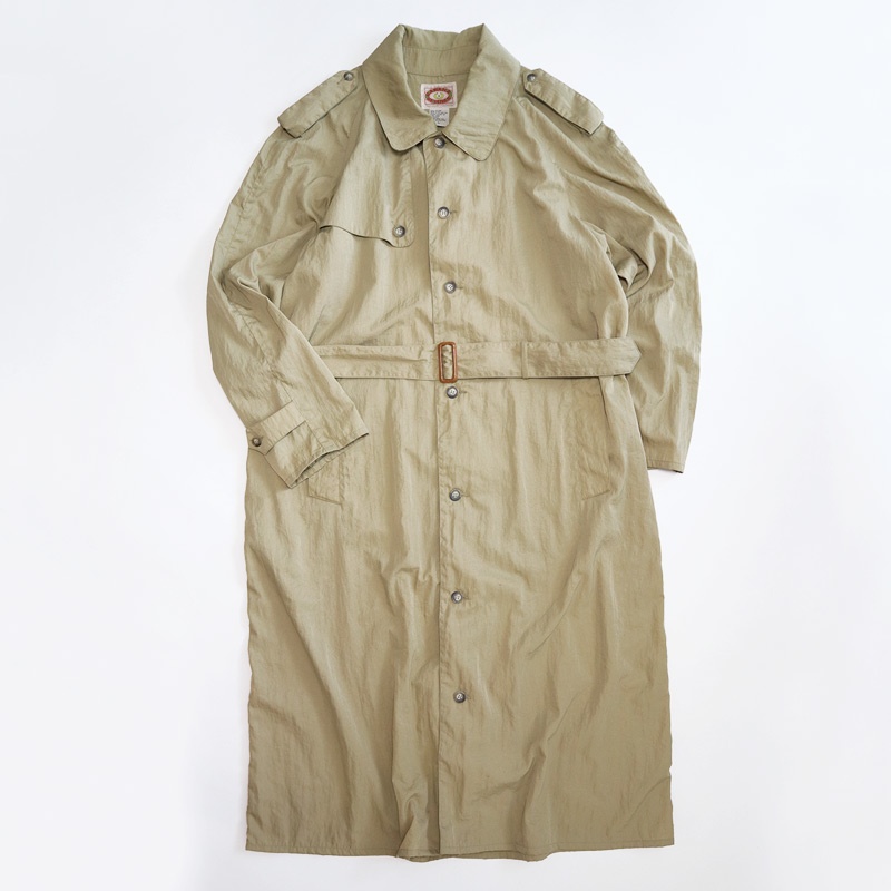 画像1: 〜80's BANANA REPUBLIC NYLON SINGLE BREASTED TRENCH COAT (1)