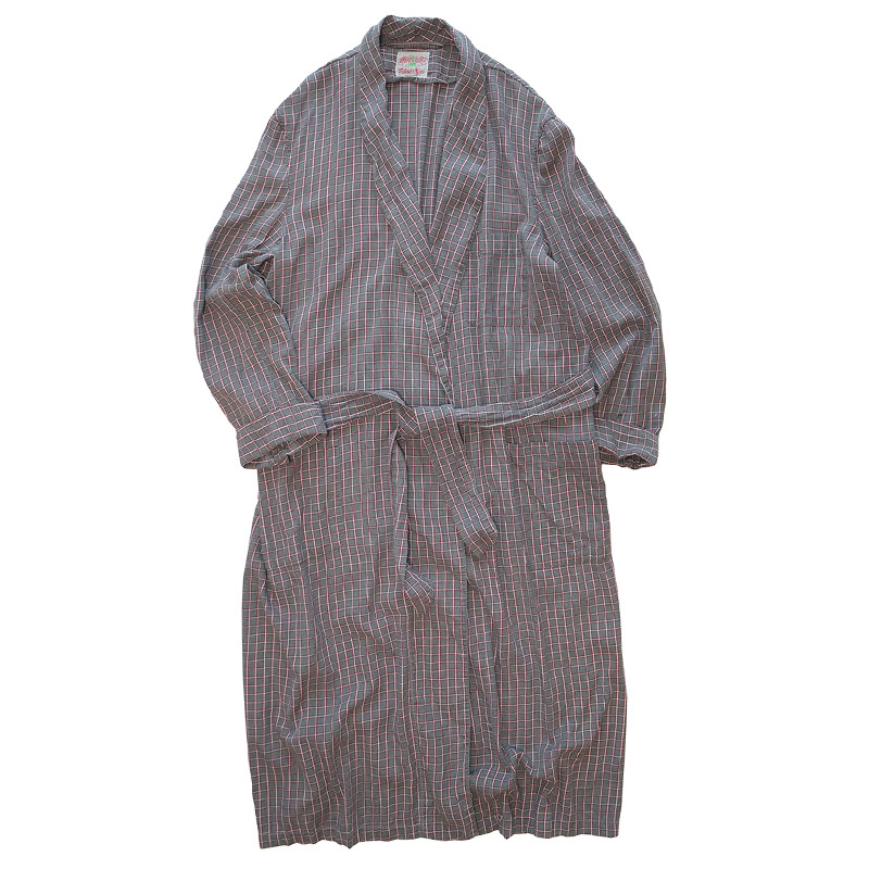 画像1: 〜60's STATE-O-MAINE RAYON CHECK ROBE (1)