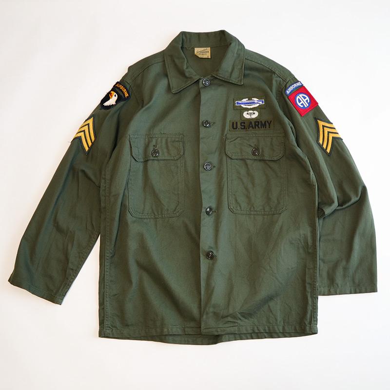 """画像1: 60's US ARMY """"TROOPER"""" COTTON SATEEN UTILITY SHIRT JACKET (1)"""