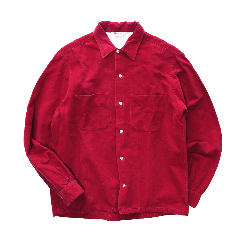 画像1: 60's SPIEGEL BORDER CORDUROY BOX SHIRT (1)