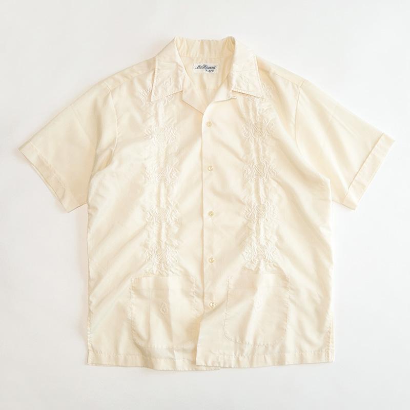 画像1: 〜70's Mr. Hawaii COTTON POLYESTER S/S CUBA SHIRT (1)