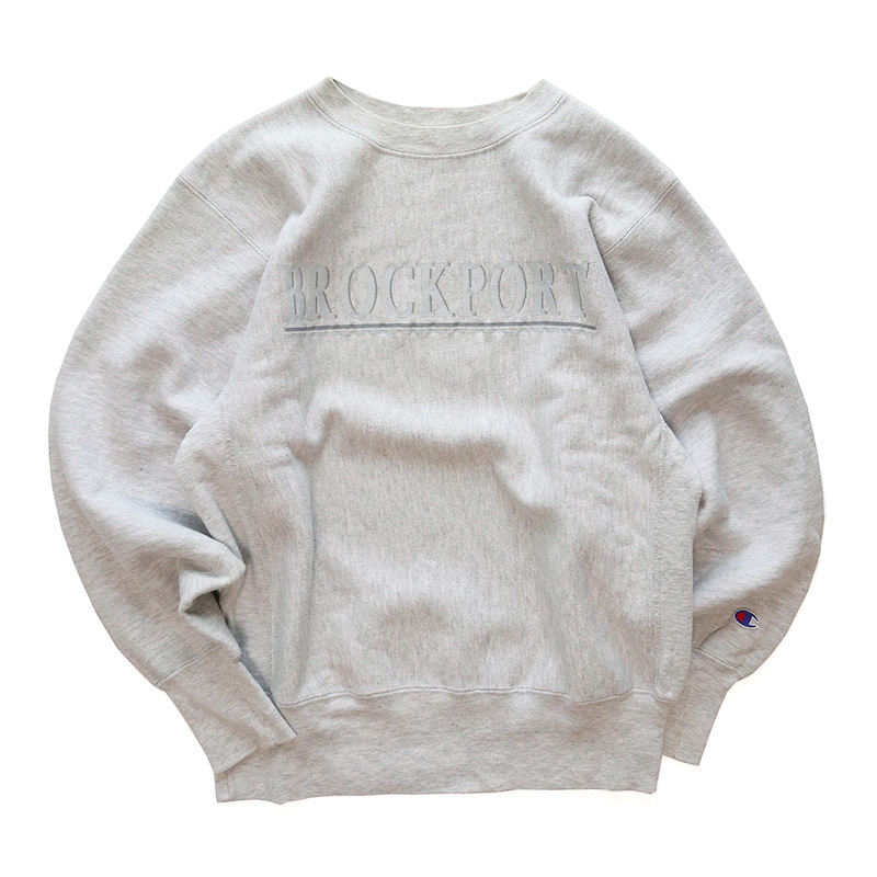 "画像1: 90's Champion REVERSE WEAVE PRINT CREW NECK SWEAT ""BROCKPORT"" (1)"