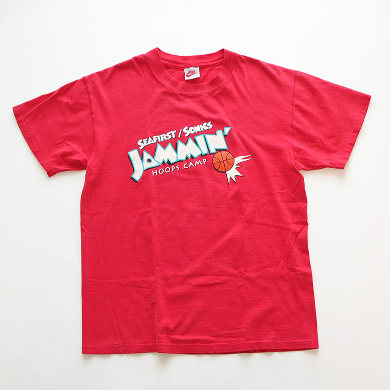 "画像1: 90's NIKE COTTON W-PRINT S/S TEE ""JAMMIN' HOOPS CAMP"" (1)"