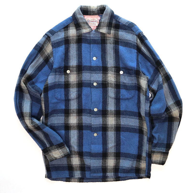 画像1: 50's TOWNCRAFT WOOL CHECK BOX SHIRT (1)