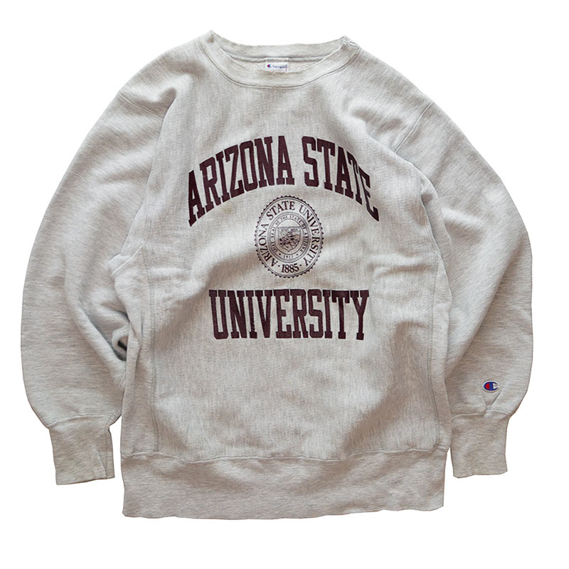 "画像1: 90's Champion REVERSE WEAVE PRINT CREW NECK SWEAT ""ARIZONA STATE UNIVERSITY"" (1)"