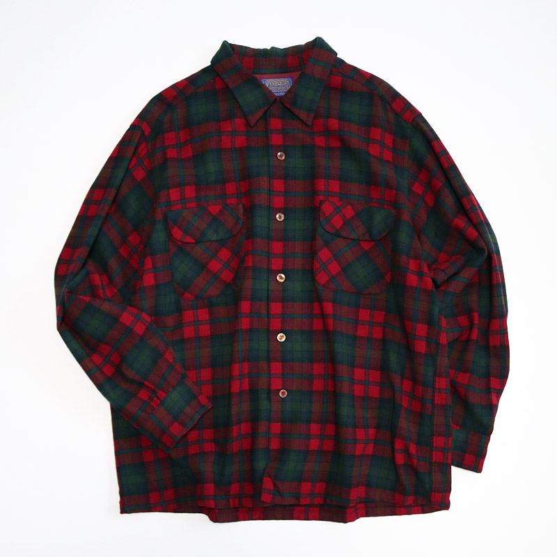 画像1: 70's PENDLETON WOOL CHECK BOARD SHIRT (1)