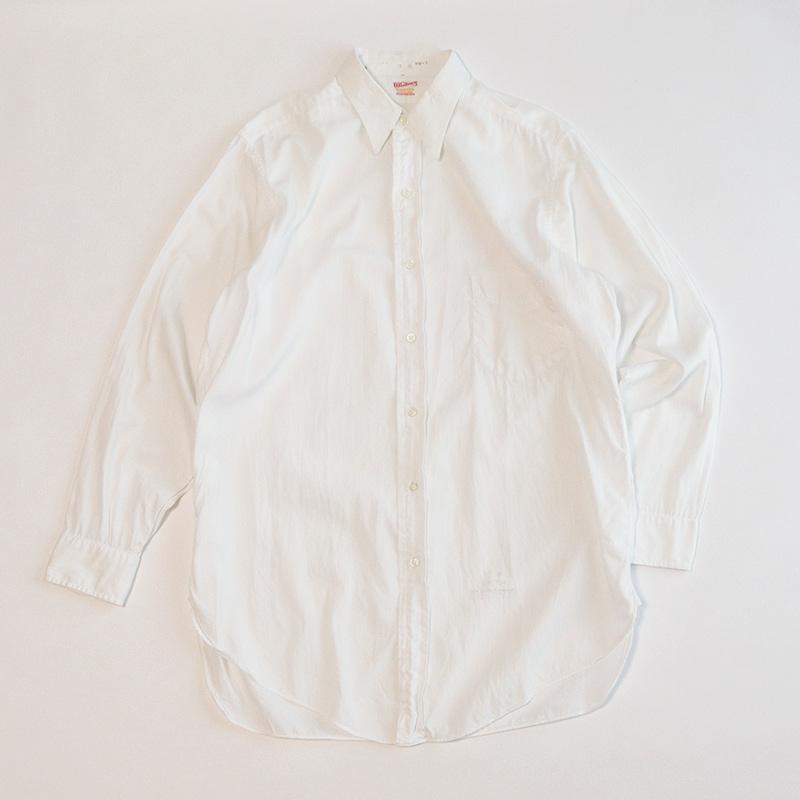画像1: 50's Whitney COTTON BROAD DRESS SHIRT (1)
