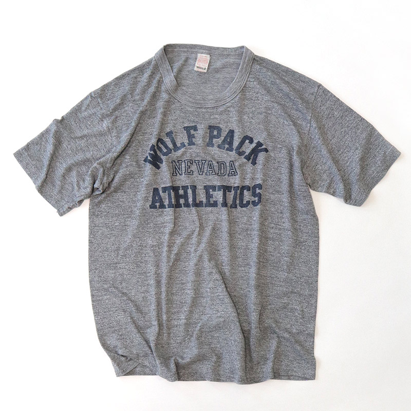 "画像1: 80's WOLF COTTON RAYON POLYESTER PRINT S/S TEE ""WOLF PACK ATHLETIC"" (1)"