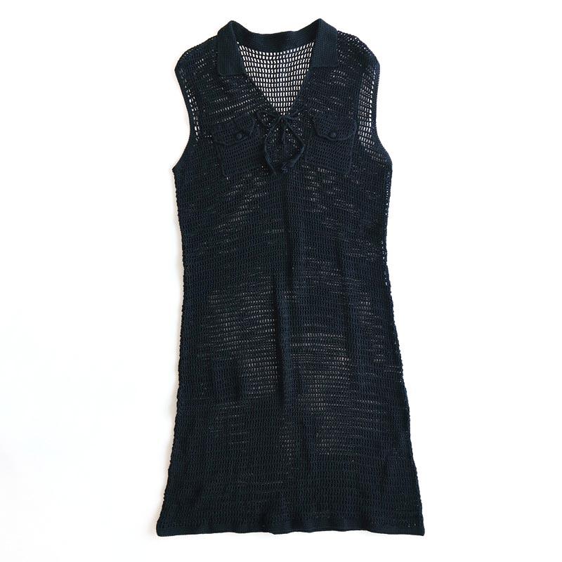 画像1: COTTON MESH N/S DRESS (1)