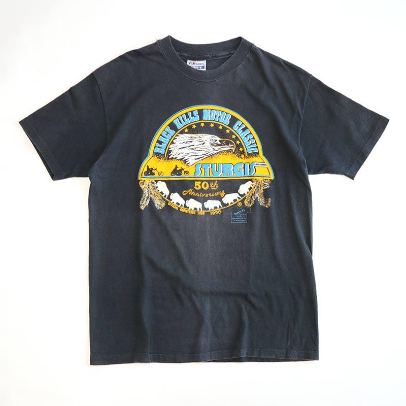 """画像1: 〜90's Hanes COTTON W-PRINT S/S TEE """"STURGIS 50th Anniversary"""" (1)"""
