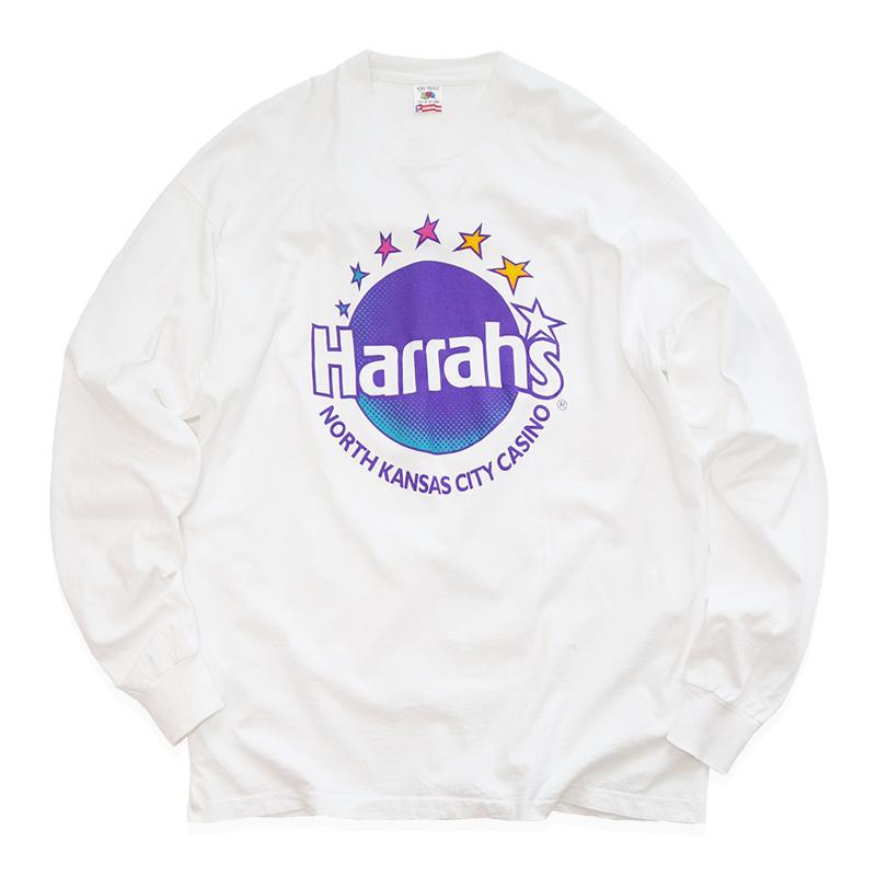 """画像1: 〜90's FRUIT OF THE LOOM COTTON PRINT L/S TEE """"Harrah's"""" (1)"""