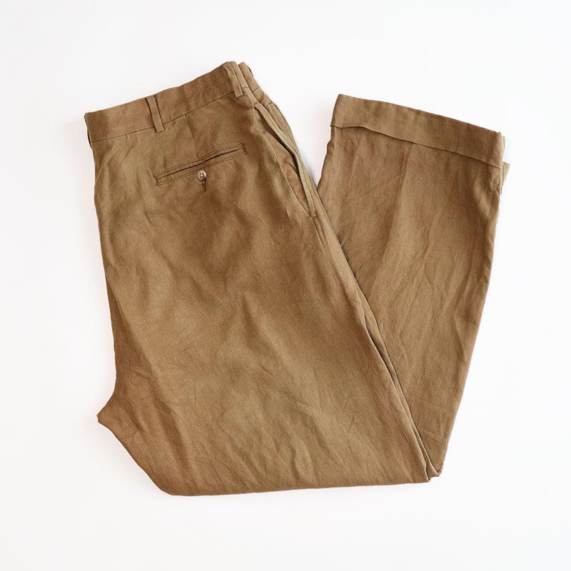 画像1: Polo by Ralph Lauren LINEN TUCK PANTS (1)
