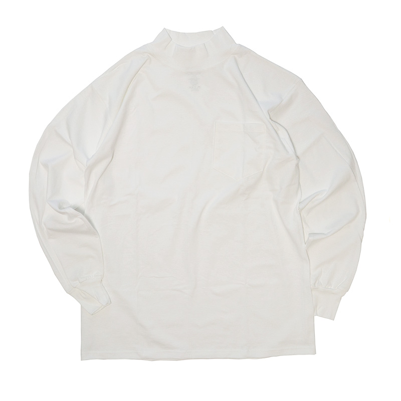 画像1: 【NEW】 LIFEWEAR COTTON MOCK NECK L/S POCKET TEE (1)